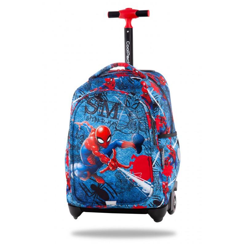 Mochila escolar con ruedas JUNIOR Disney - Spiderman denim