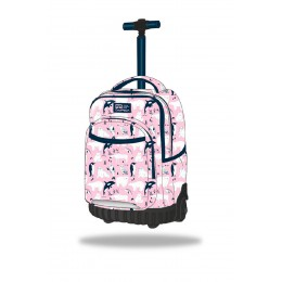 Mochila escolar con ruedas SWIFT - Pink ocean