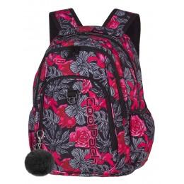 Mochila escolar STRIKE Red & Black Flowers