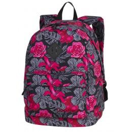 Mochila escolar CROSS Red & Black Flowers