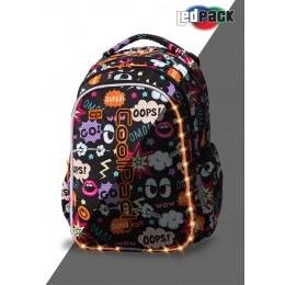 Mochila escolar con luz LED JOY Comics