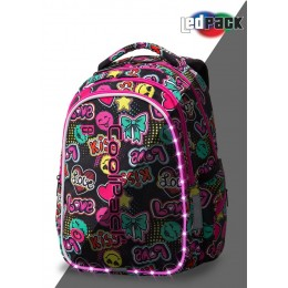 Mochila escolar con ruedas Swift Rainbow Hearts