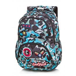 Mochila escolar DART Camo Blue Badges