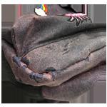calvas en el tejido de la mochila
