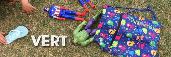 saquito Vert con muñecos de Avengers